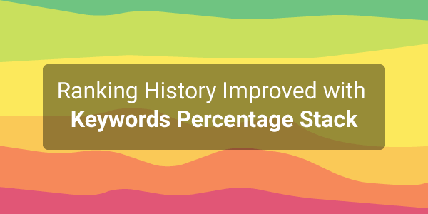 Ranking History Improved with Keywords Percentage Stack