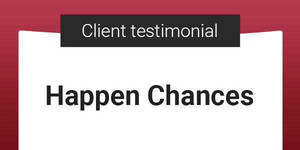 ASO Client Testimonial: Mike and Sabin From Happen Chances
