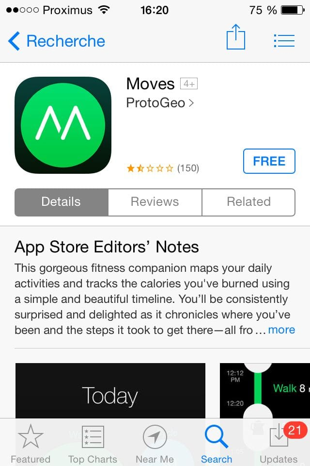 Moves Screenshot - iPhone