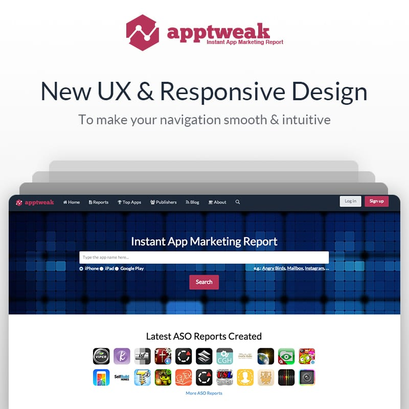 New UX & Responsive Design
