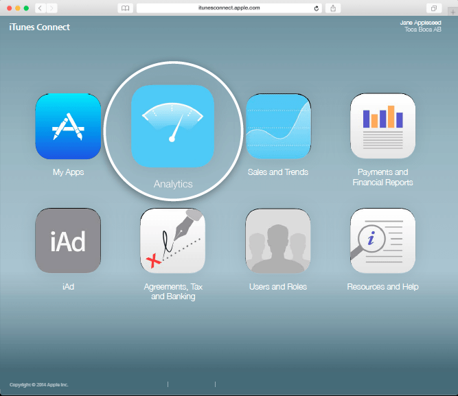 iTunes Connect Dashboard