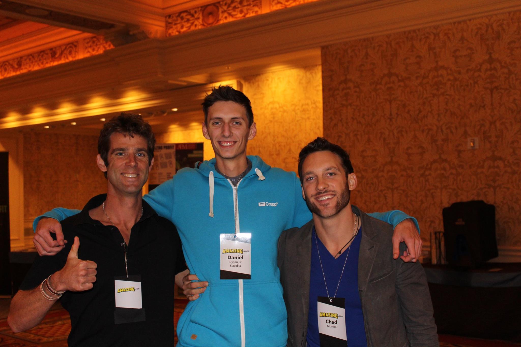 Daniel Rysan, Chad Mureta and Carter Thomas in Las Vegas