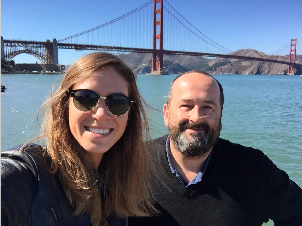 Olivier Verdin and Laurie Galazzo in San Francisco.