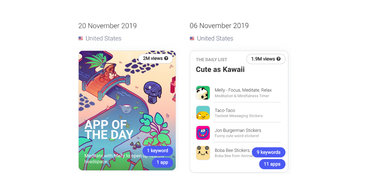 Melly got featured in the app store in November
