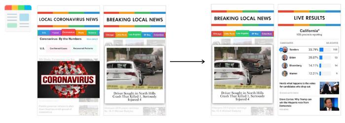 screenshot update of smartnews