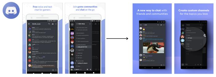 screenshot update of discord