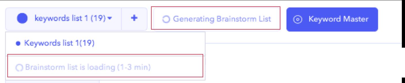 AppTweak ASO Tool: generation of a keyword Brainstorm list