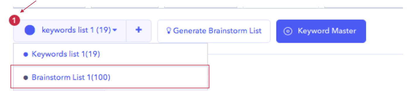 AppTweak ASO Tool: Where to find the keyword brainstorm list