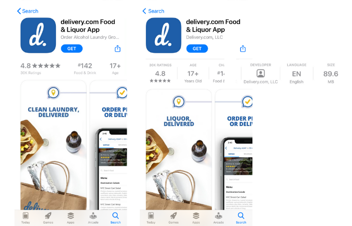 ios 14 app product page information panel