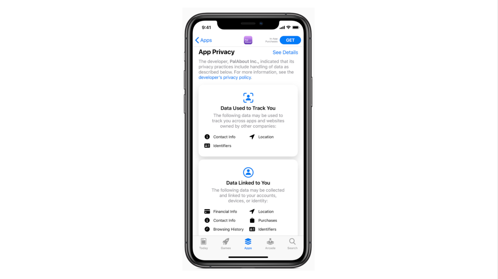 The new privacy section on the app store product page was unveiled by Apple during the last WWDC event