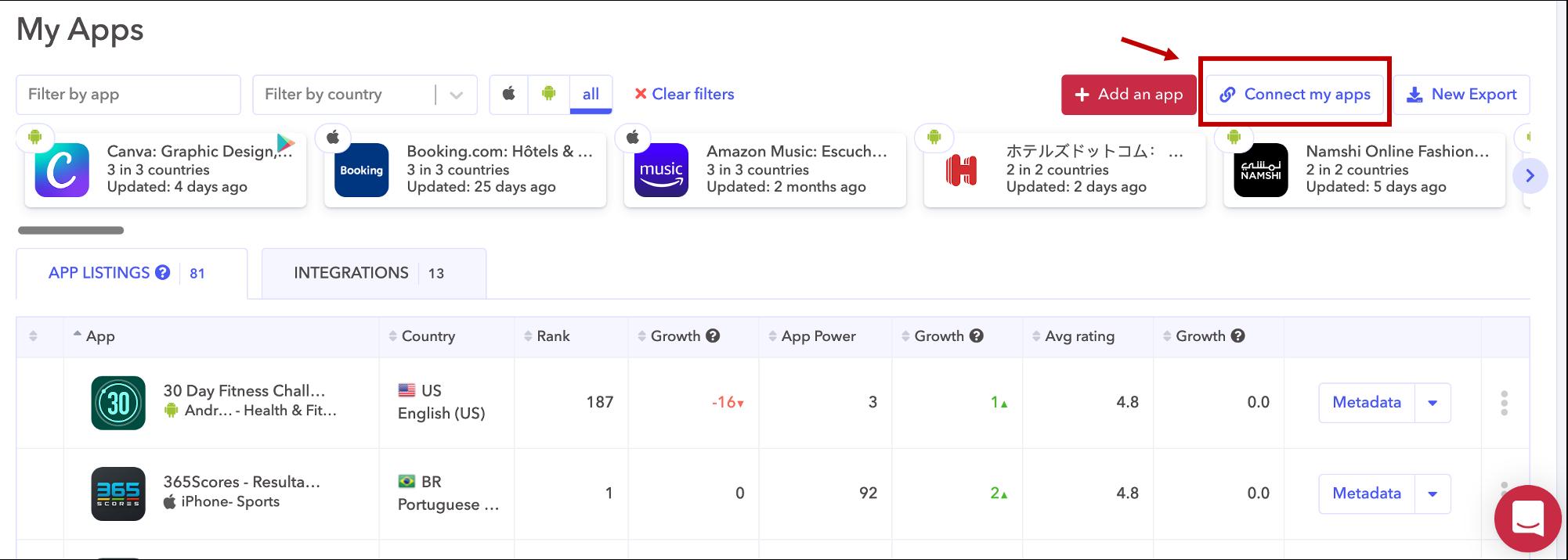 AppTweak ASO Tool: Connect your apps to AppTweak