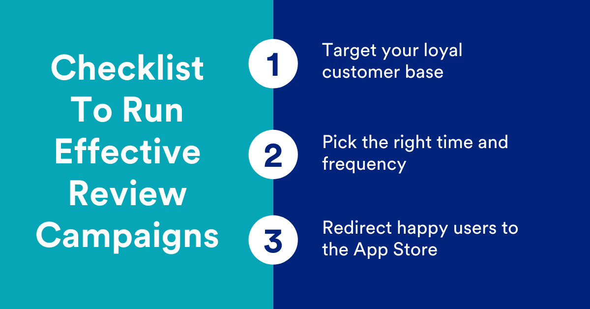 Checklist to run effective review campaigns